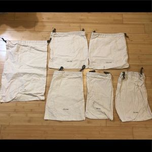 🟠Lot of Six (6) Assorted Sizes Celine Dust Bags